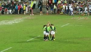 Dit was ook die eerste been van die Sewes Rugbytoernooi waar die Blitsbokke in aksie was.