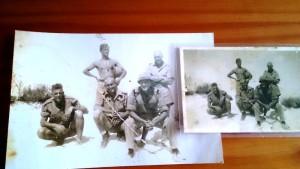 Vyf soldate uit WO1.