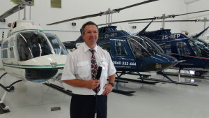 Dion Wessels, helikopter-vlieënier by Capital Air.