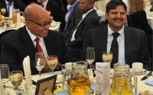 Pres Jacob Zuma en Atul Gupta