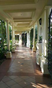 'n Stil hoekie by die bekende Polana Hotel in Maputo