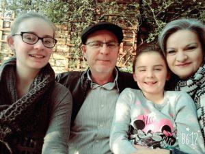 Vlnr: Mart-Leen, Marius, Cara en Tharien Oosthuizen