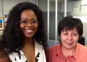 Pretty saam met Magdaleen Kruger, die bestuurder van RSG.
