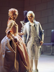 Michelle as Octavian in Der Rosenkavalier.