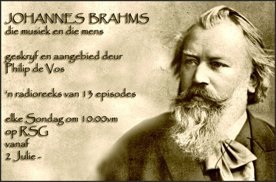 Philip de Vos terug met program oor Johannes Brahms