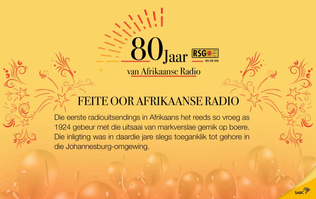 80 Jaar van Afrikaanse radio op sosiale media
