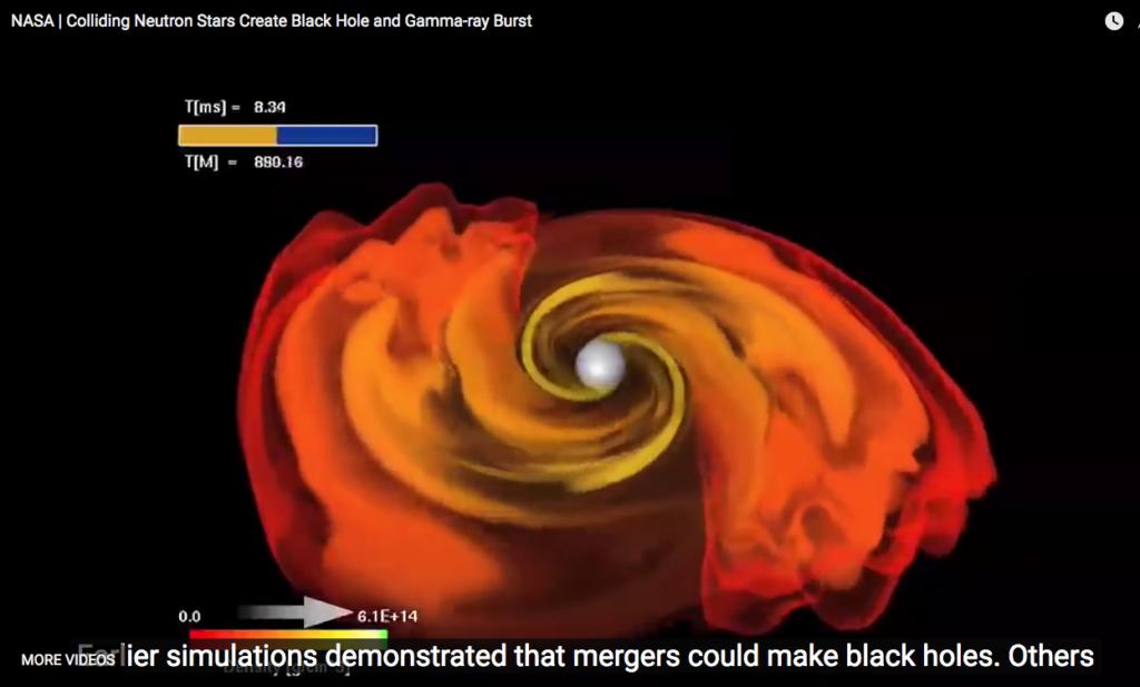 Gravitasiegolwe 1e keer waargeneem van sterre-botsing 130 miljoen jr gelede
