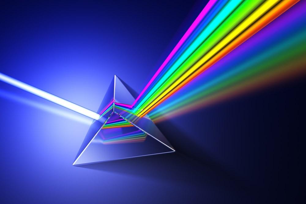 Waaruit bestaan die spektrum van lig wat mens kan sien?