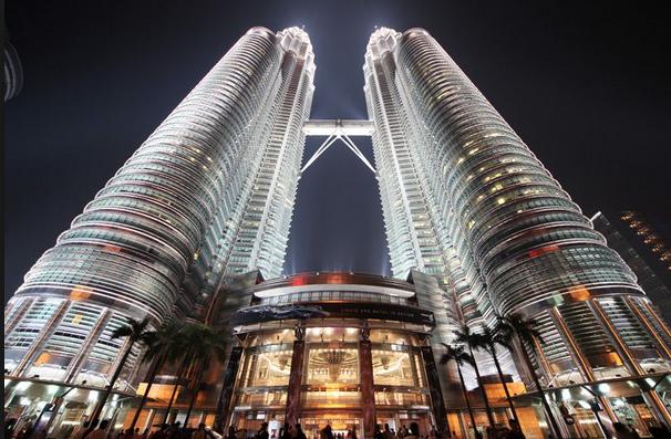 Die Petronas-torings, eens die hoogste gebou in die wêreld