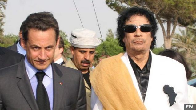 Sarkozy aangekla van korrupsie oor Libië-geld