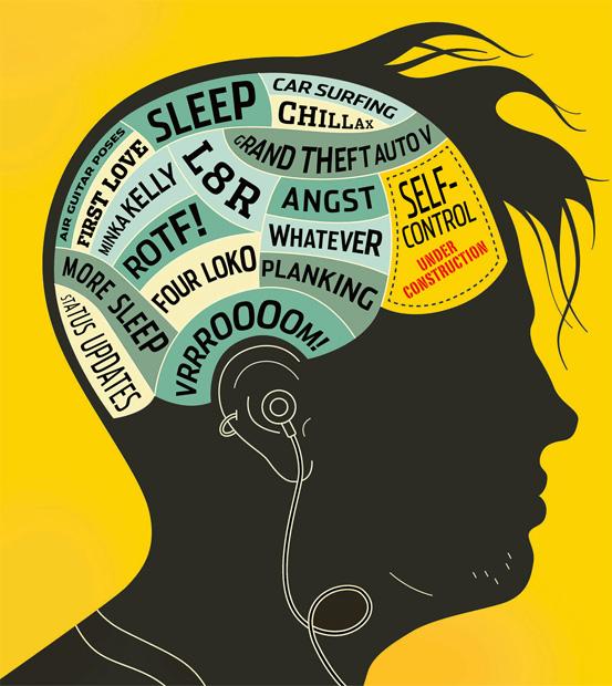 Die tienerbrein, gedrag en gemoed