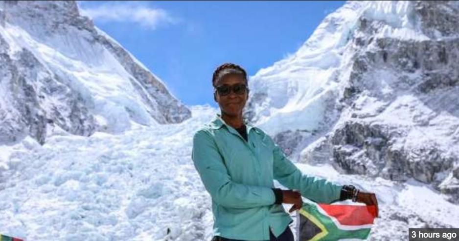 Saray Khumalo word 1e swart vrou van Afrika om Everest te oorwin