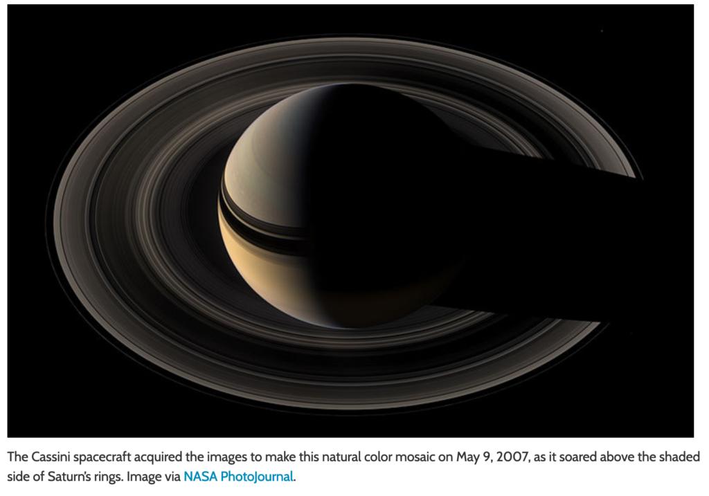 Die geheime van die ringe van Saturnus