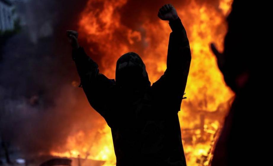 Vakbondleiers en betogerskade