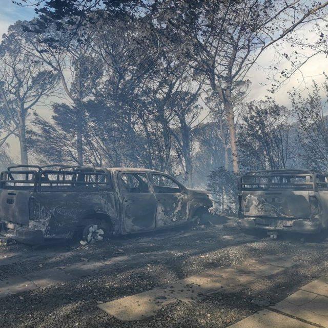 Tafelberg en Leeukop brand
