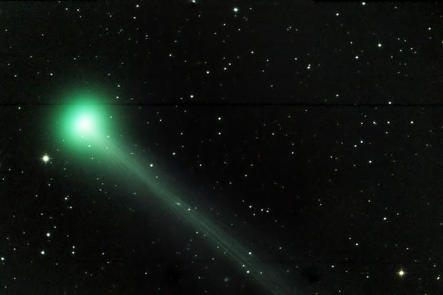 Waarom is die Swan komeet groen?