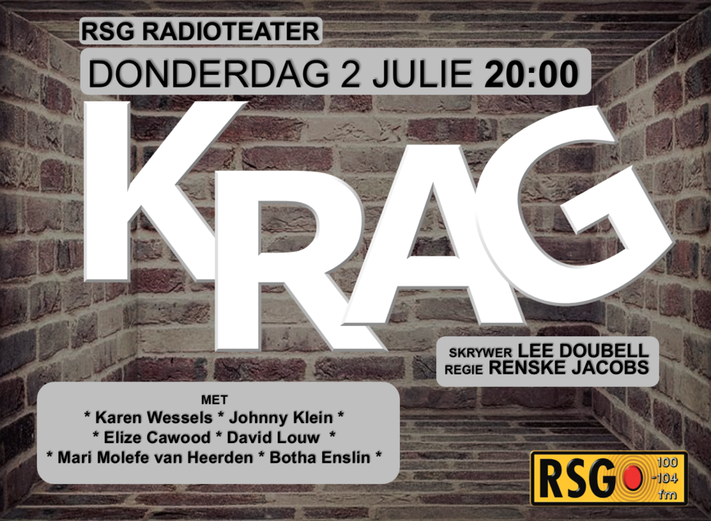 'Krag' = RSG se 1e Covid-drama