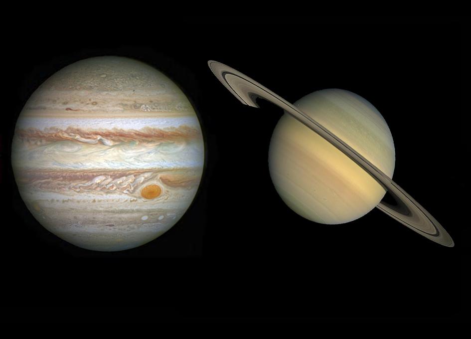 Kyk na rare konjunksie van Jupiter en Saturnus op 21 Des