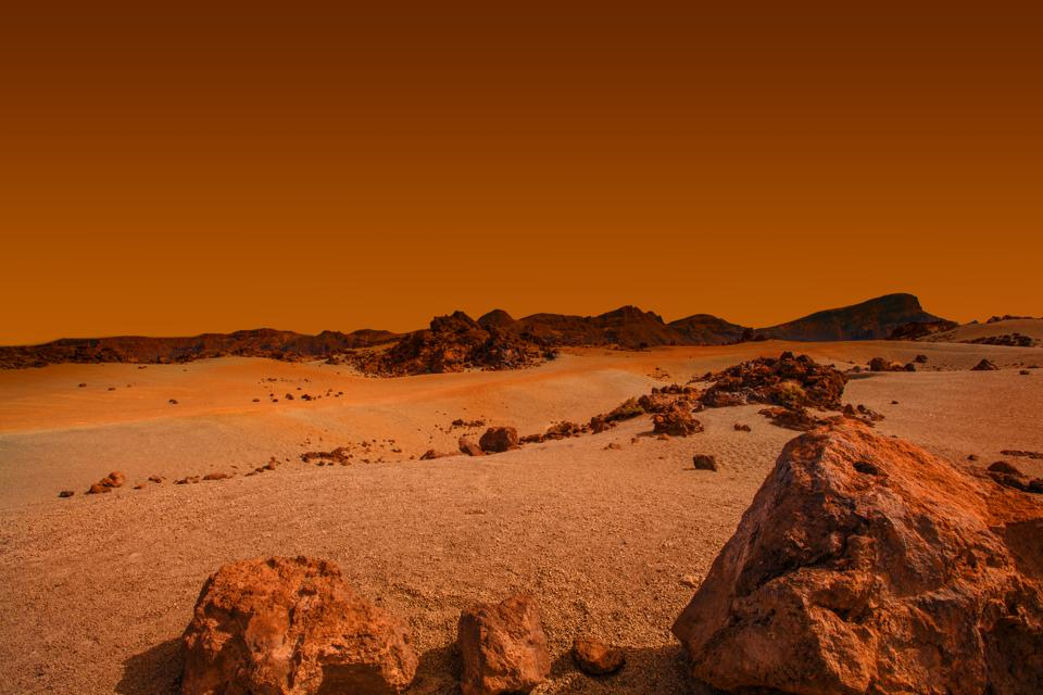 Baie landingstuie oppad na Mars