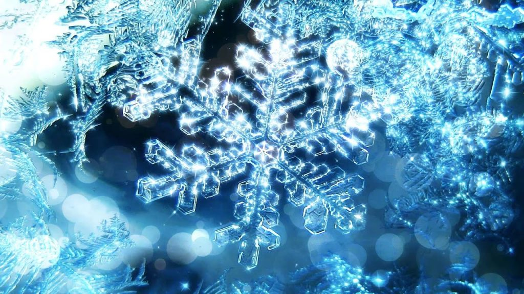 Hoe vorm die ses hoeke van 'n sneeukristal?